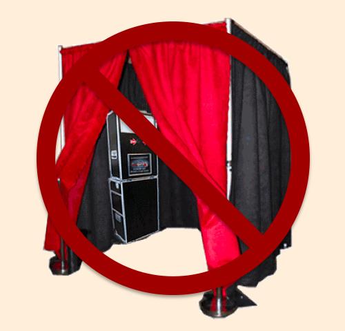 pipe drape photo booth